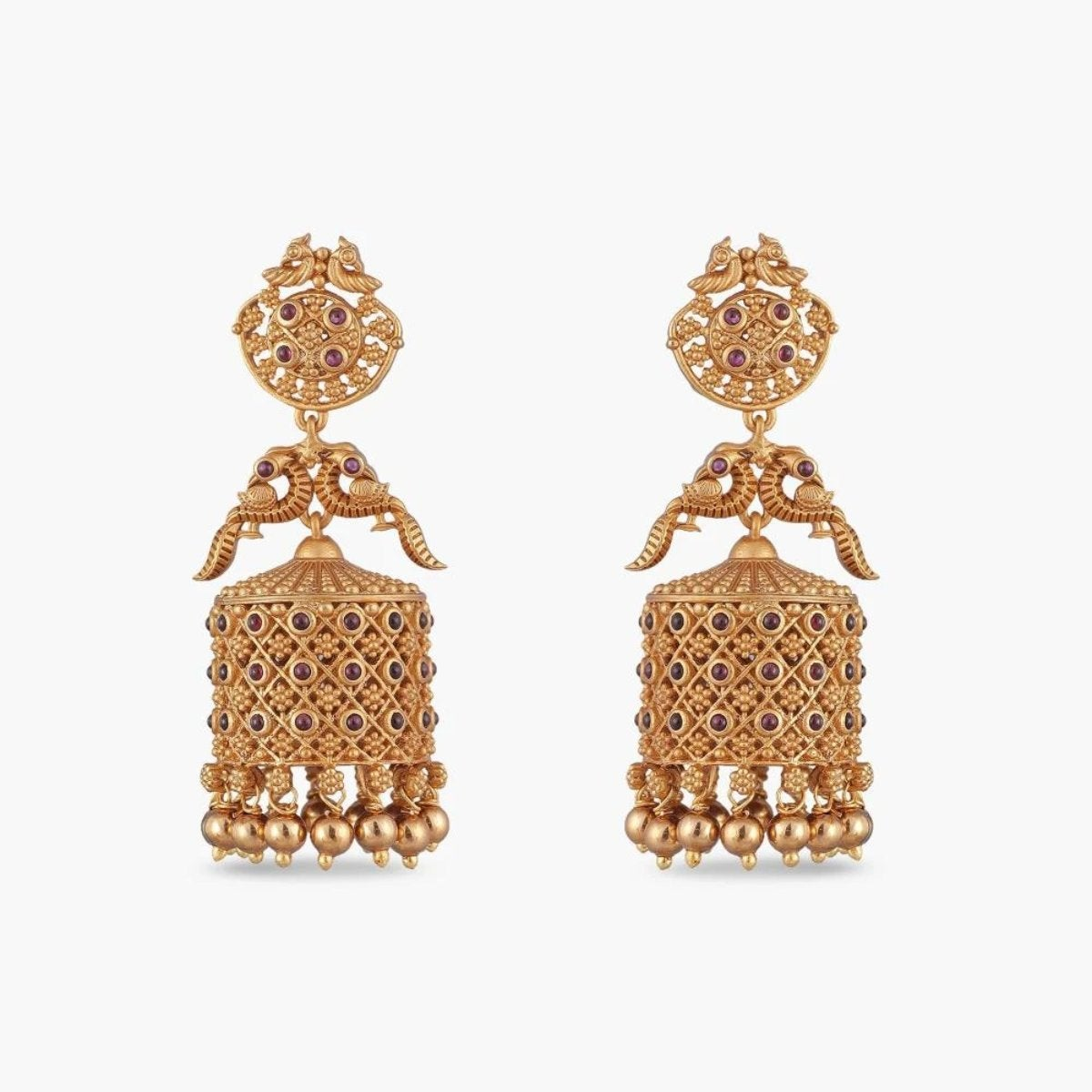 Dhvani Antique Jhumka Earrings