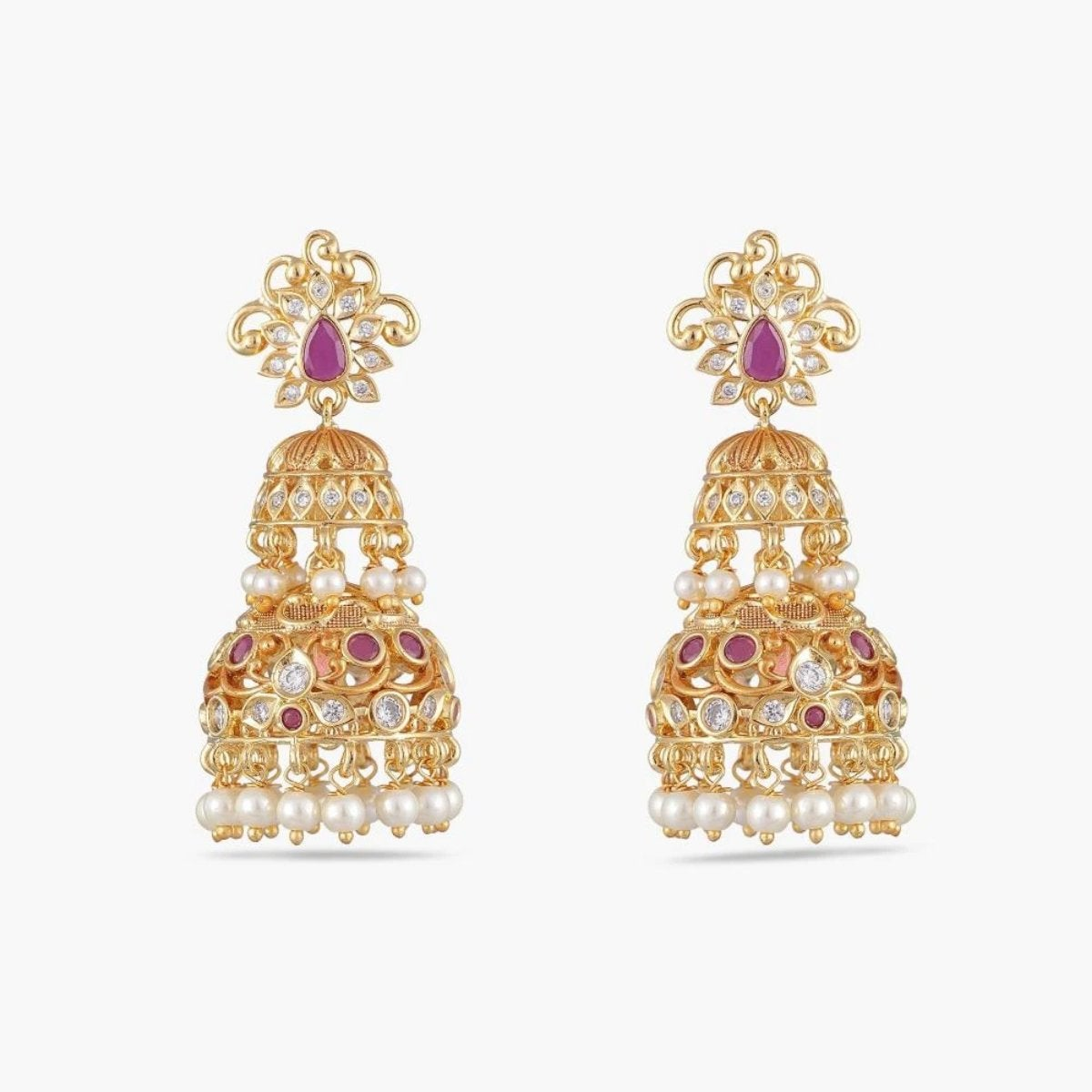 Tripur Nakshatra CZ Jhumka Earrings