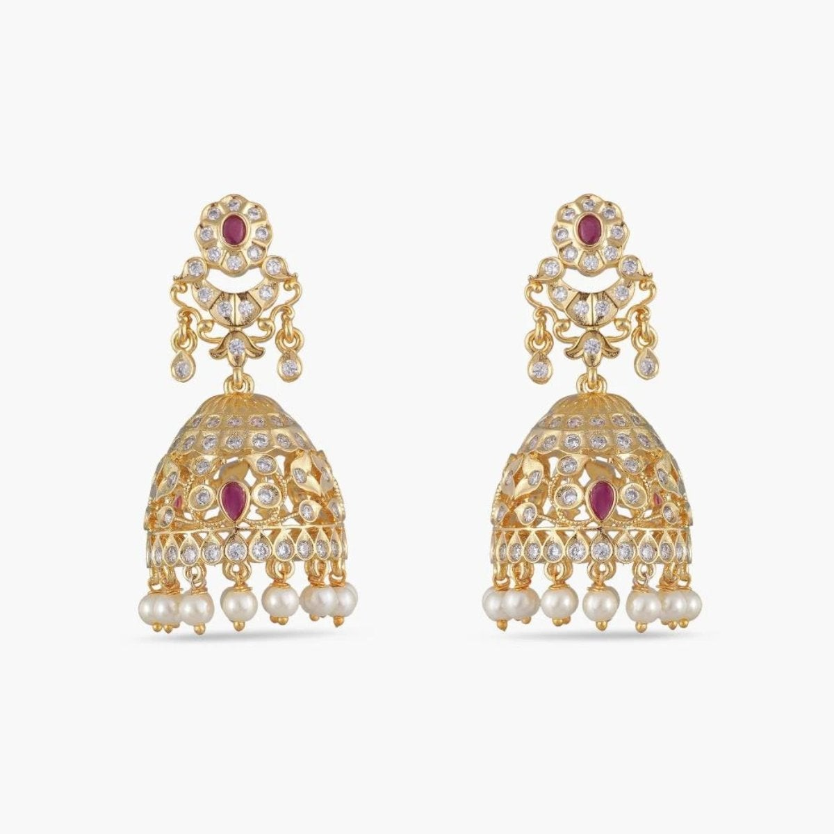 Sanvi Nakshatra CZ Jhumka Earrings