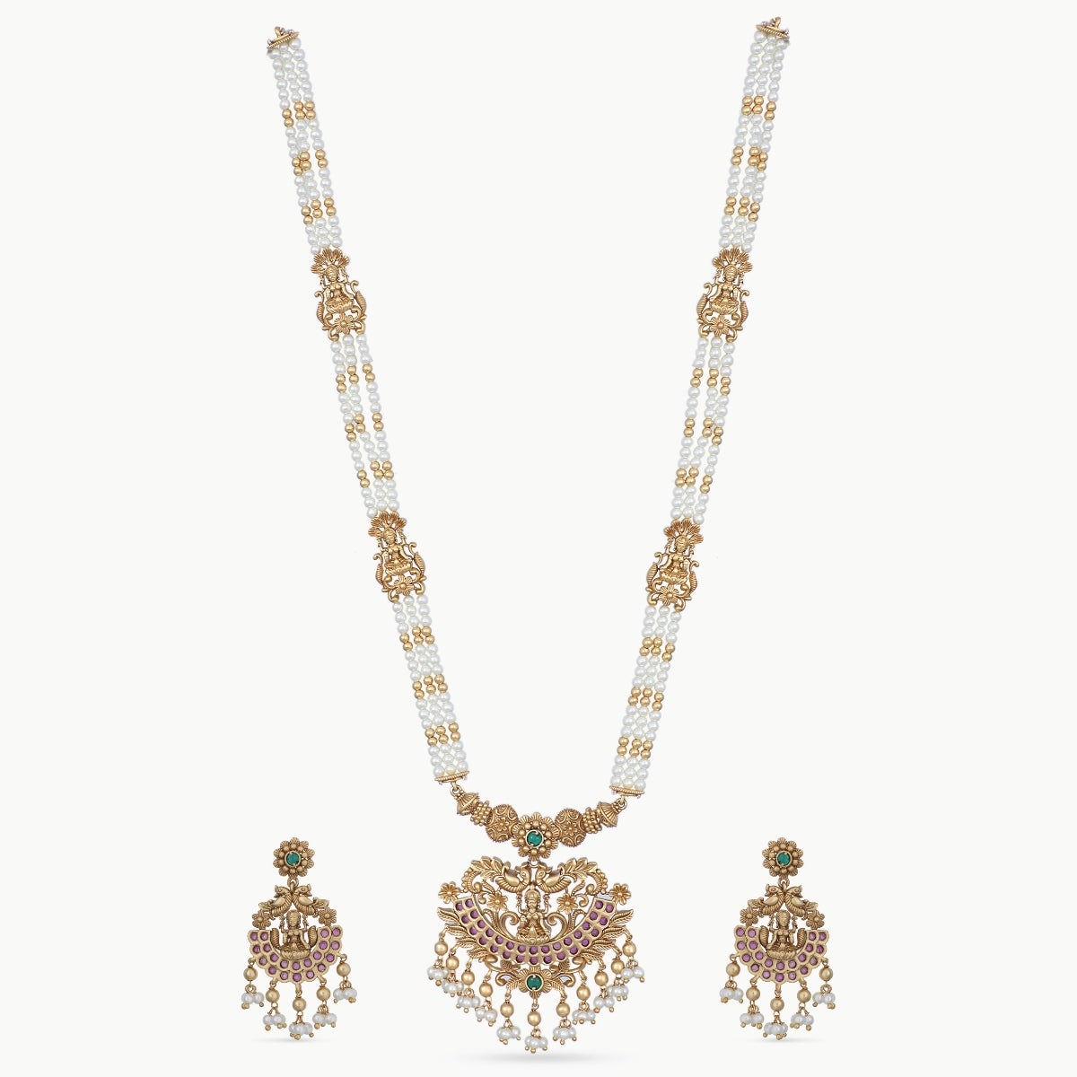 Panika Antique Long Necklace Set