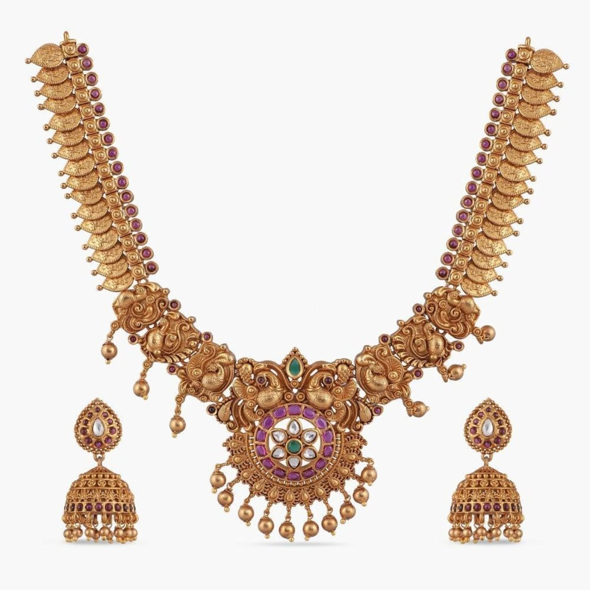 Neelam Antique Necklace Set