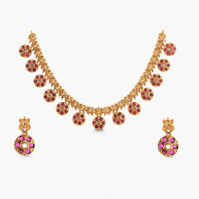 Adah Antique Necklace Set by Tarinika