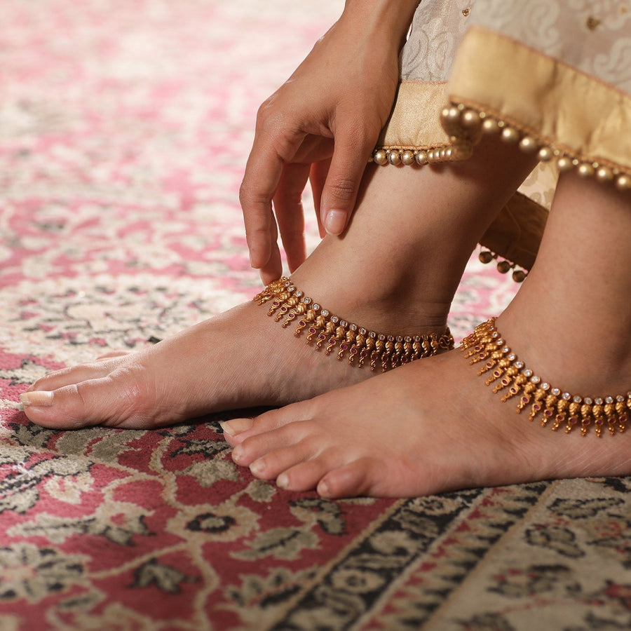 Aarna Antique Anklets