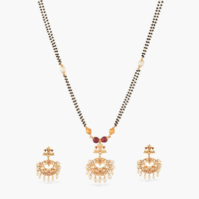 Kirik Black Beads Necklace Set