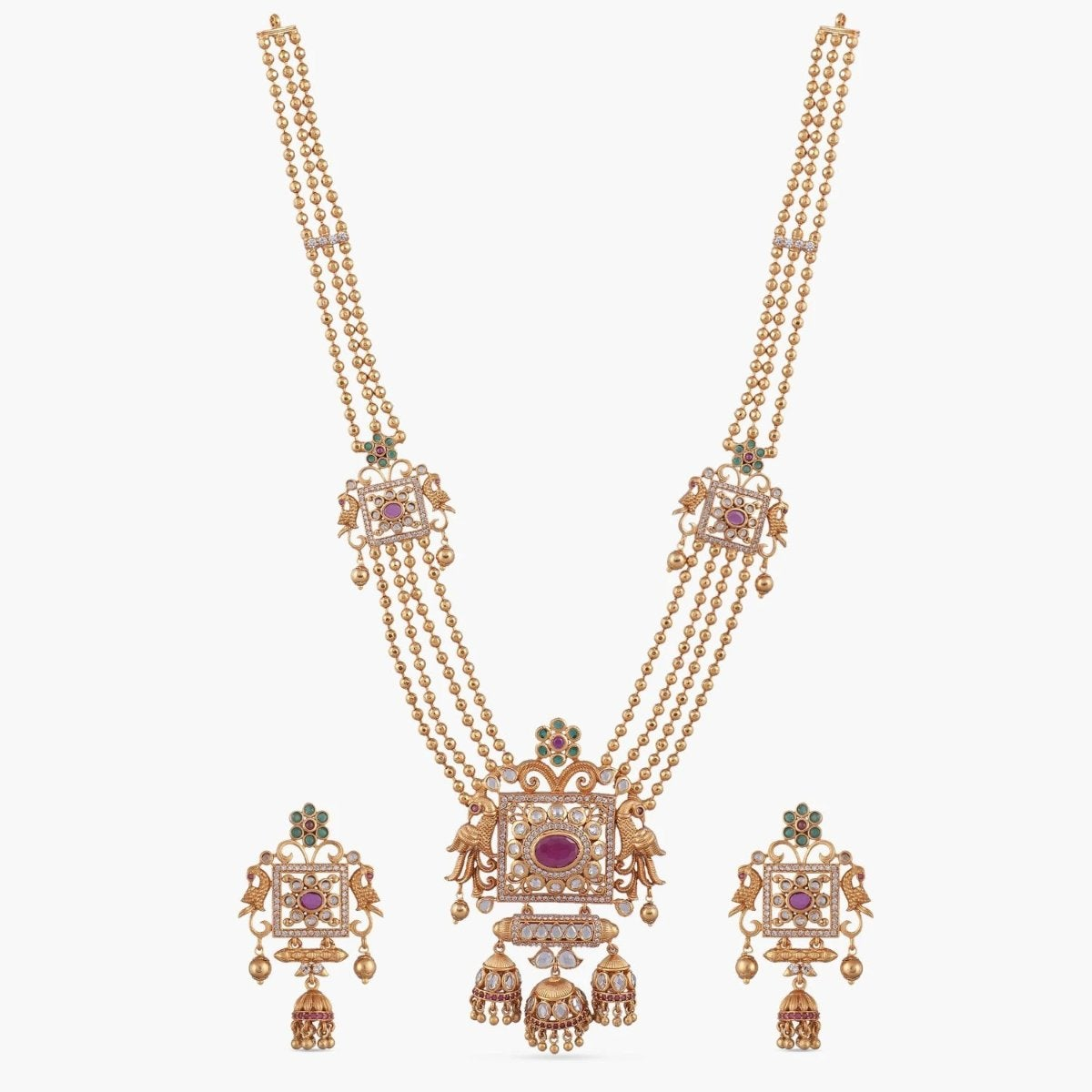 Myra Antique Long Necklace Set