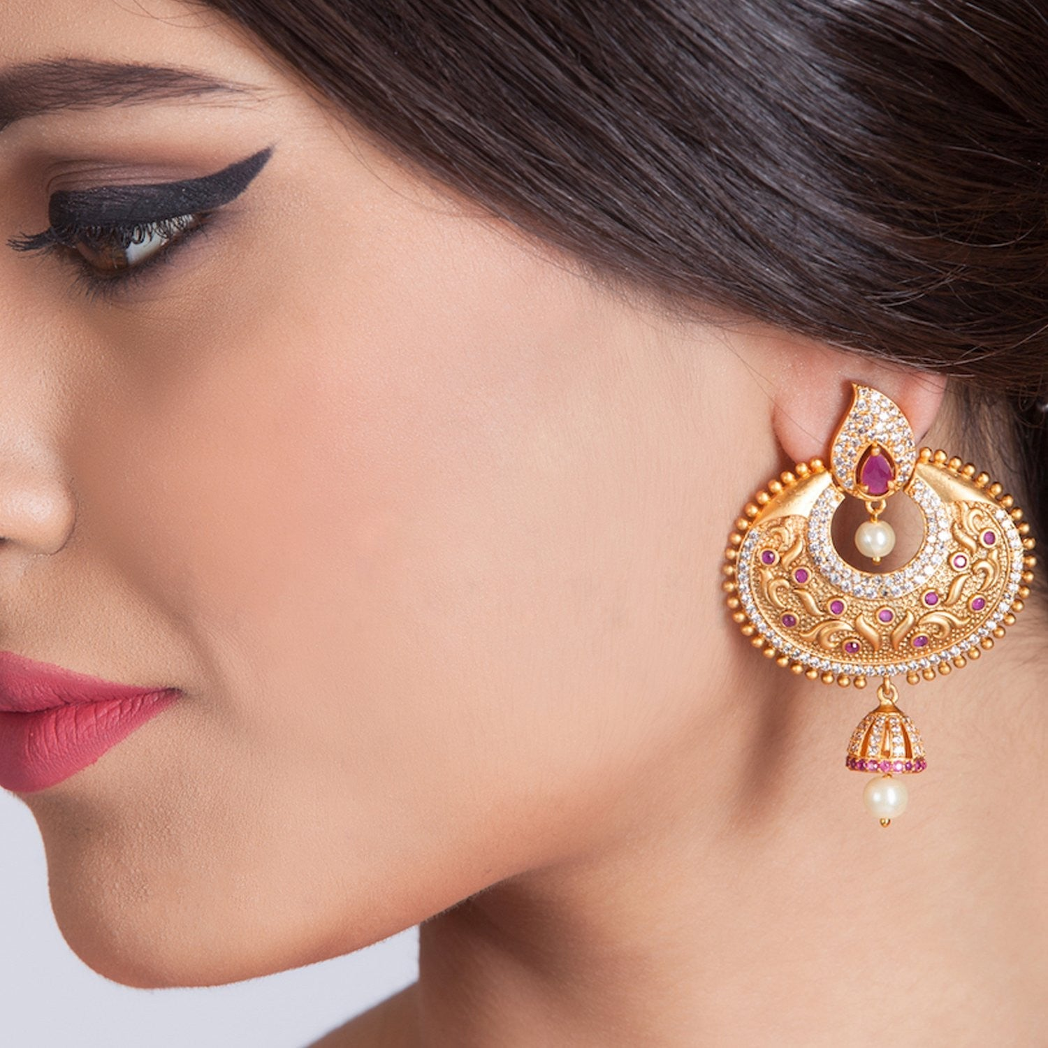 Kaajal Chandbali Earrings