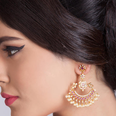 Sitara Nakshatra CZ Chandbali Earrings