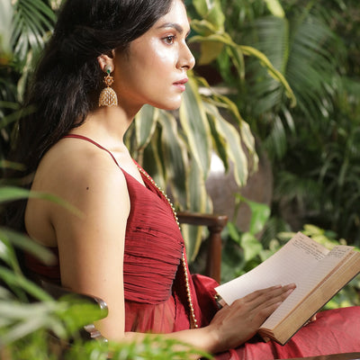 Caila Nakshatra CZ Jhumka Earrings