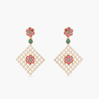 Ariel Nakshatra CZ Earrings