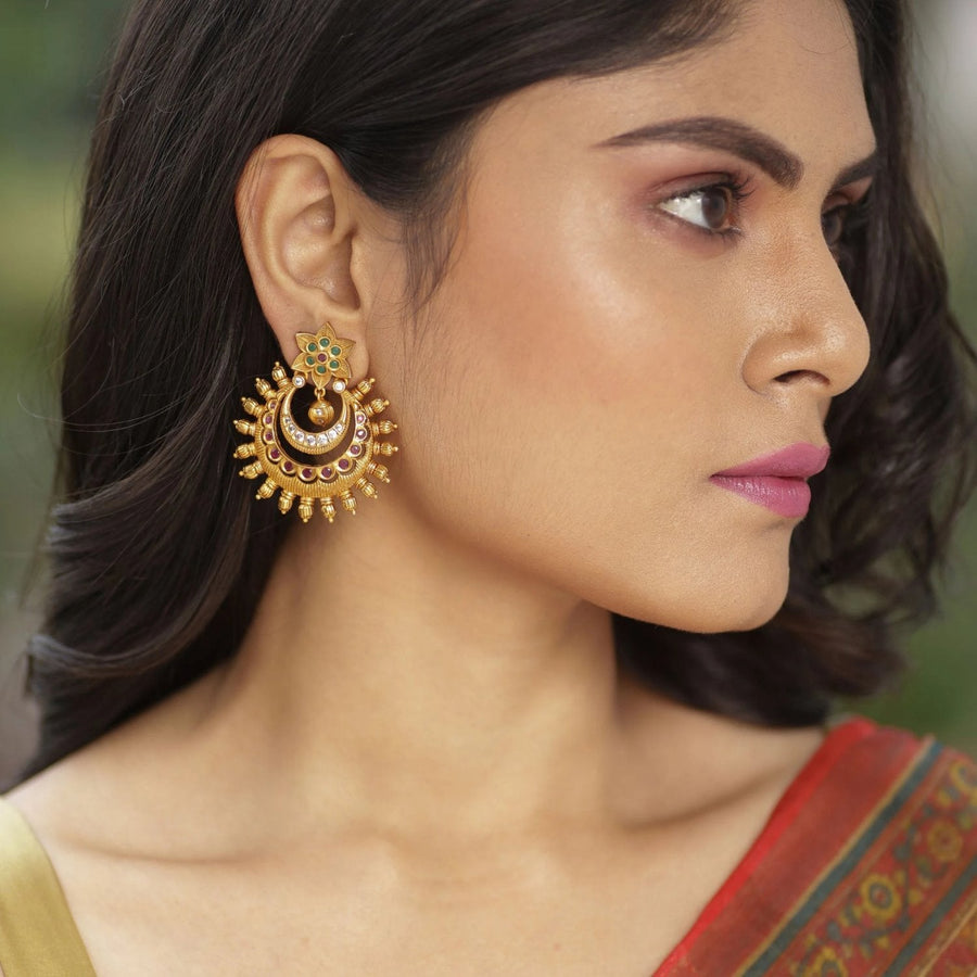 Tarang Antique Earrings by Tarinika