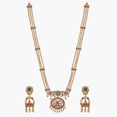 Iria Antique Long Necklace Set