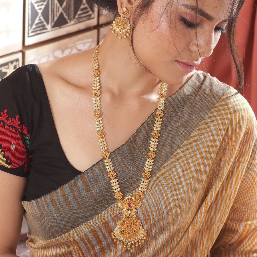 Arina Nakshatra CZ Long Necklace Set