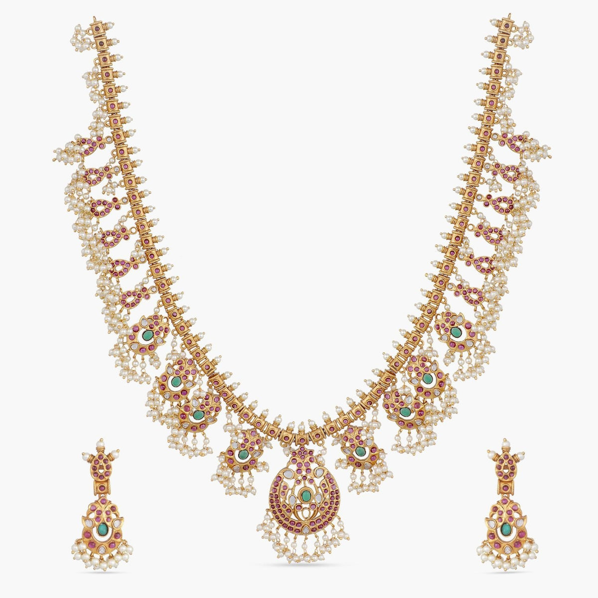Rani Antique Long Necklace Set