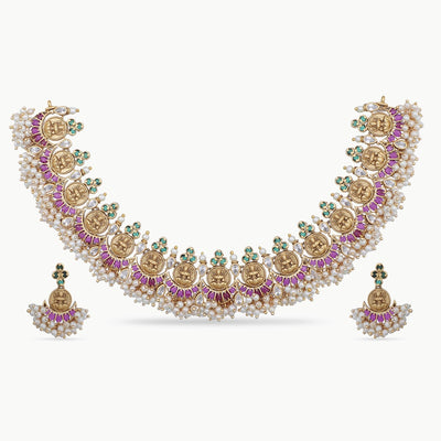 Vasvi Antique Necklace Set