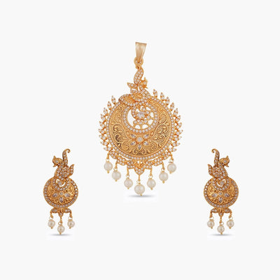 Preet Antique Pendant Set