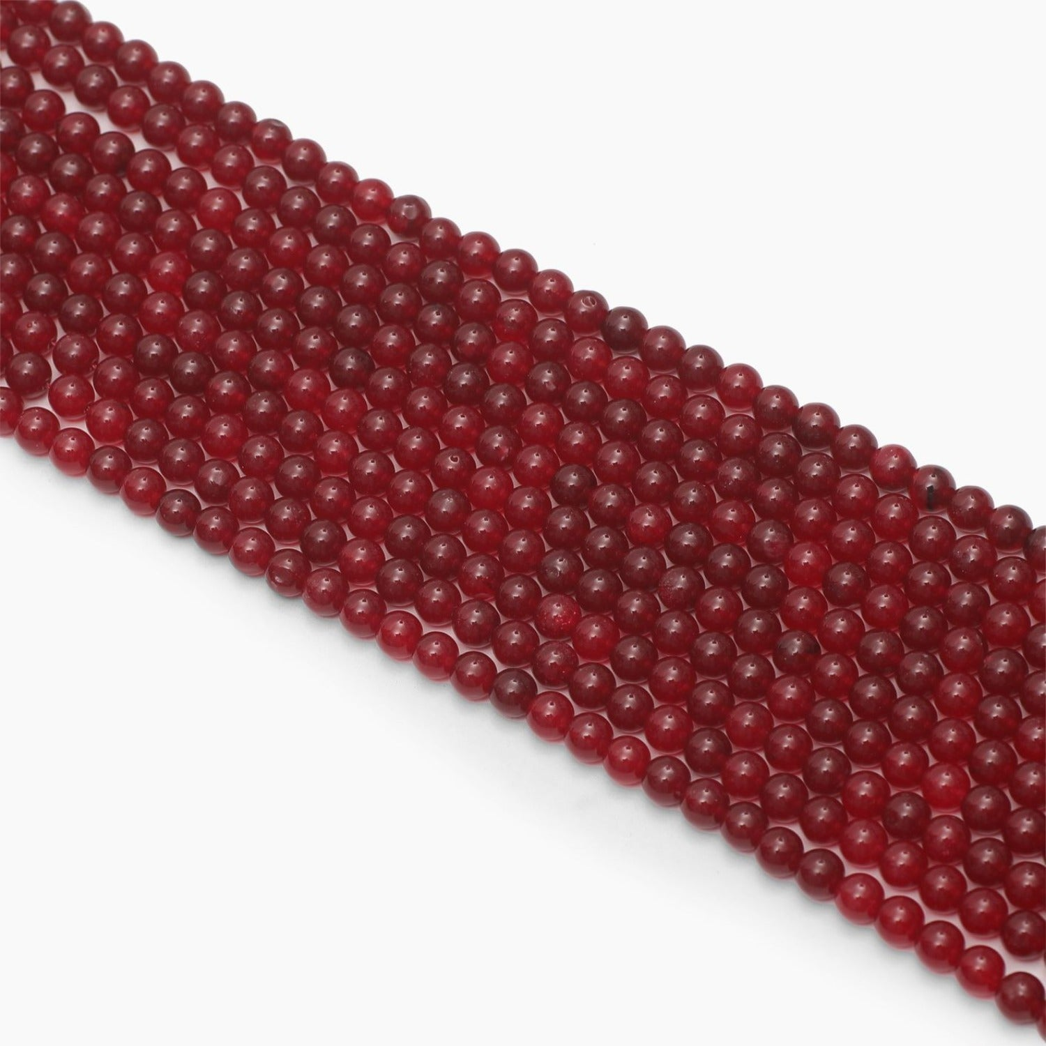Red Jade Dyed Quartz 8mm Beads- Sold Per Strand