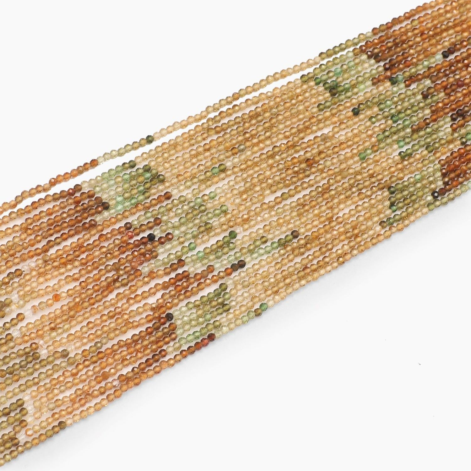 Petro Tourmaline Faceted Beads- Sold Per Strand