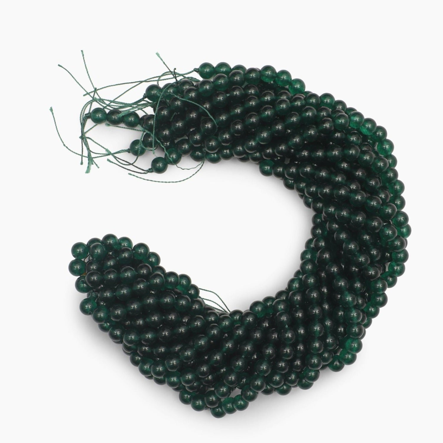 Green Jade Dyed Quartz 8mm Beads- Sold Per Strand