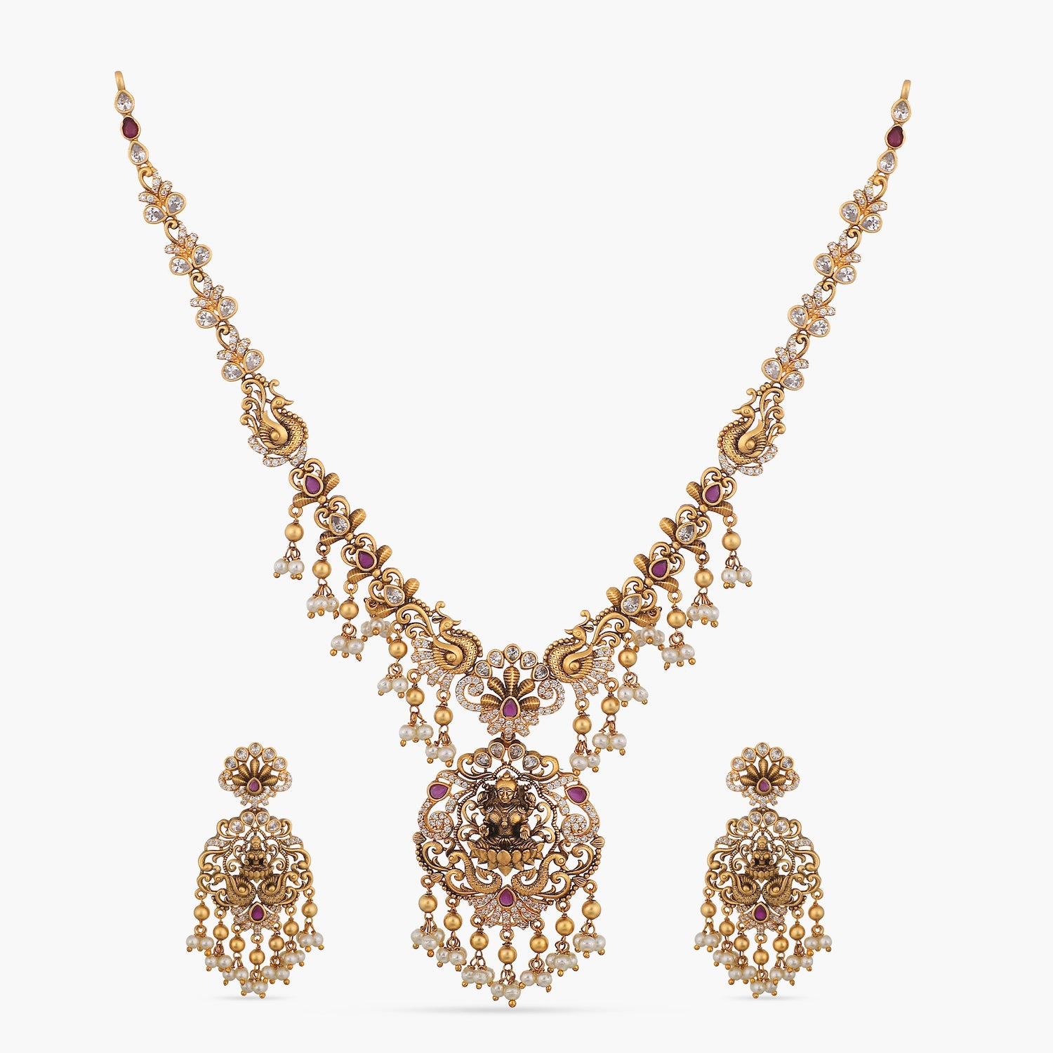 Madhuri Antique Necklace Set