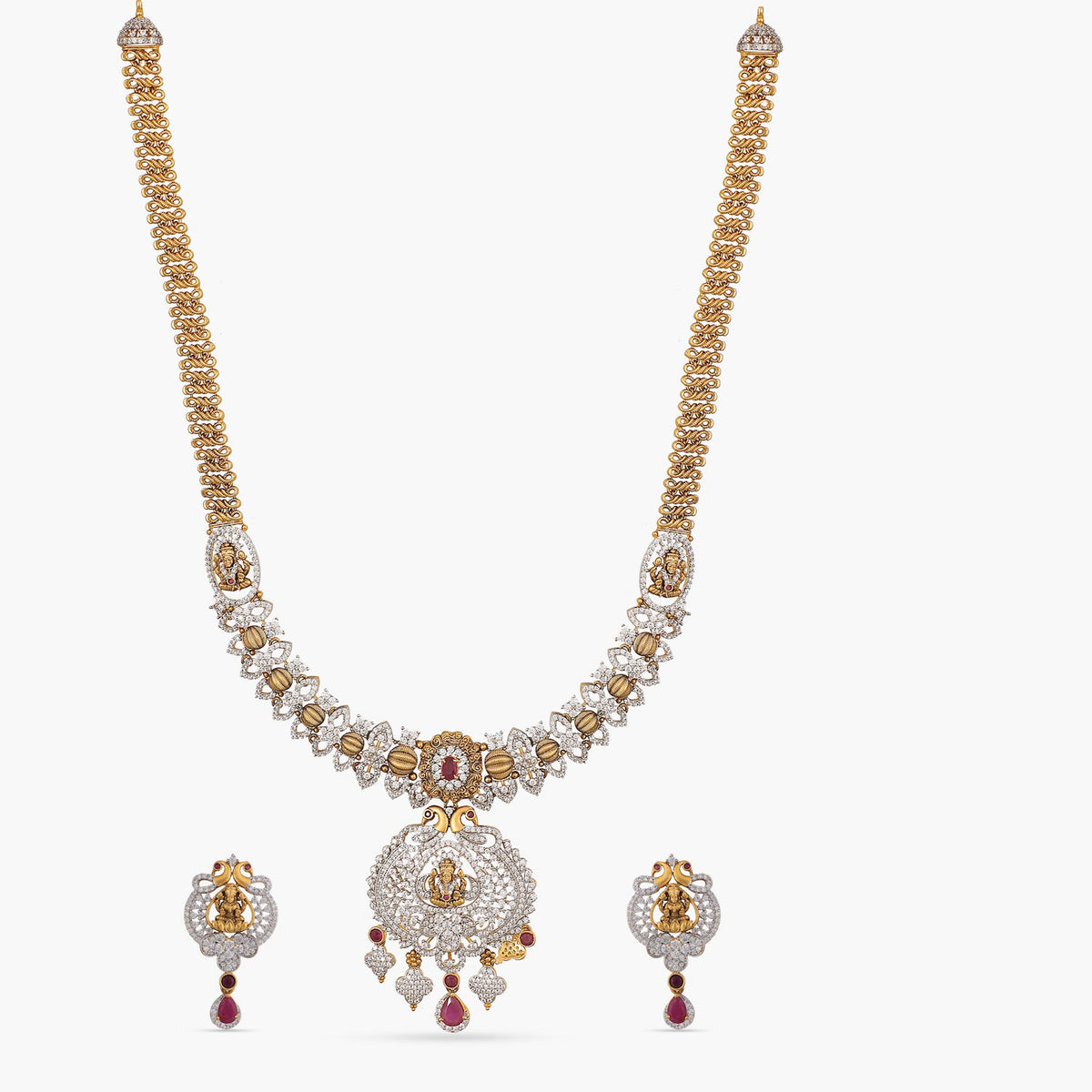 Swara Antique Long Necklace Set