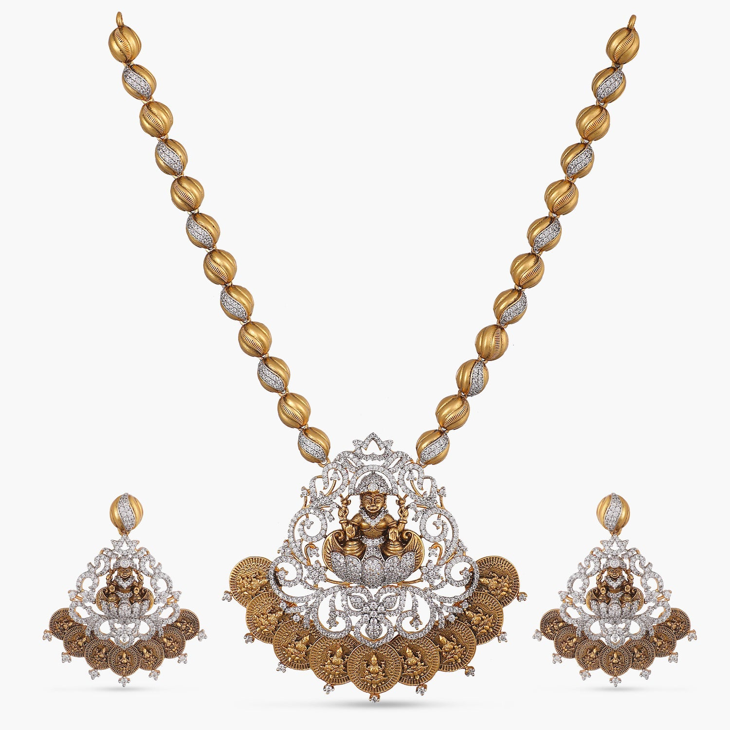 Hema Antique CZ Necklace Set