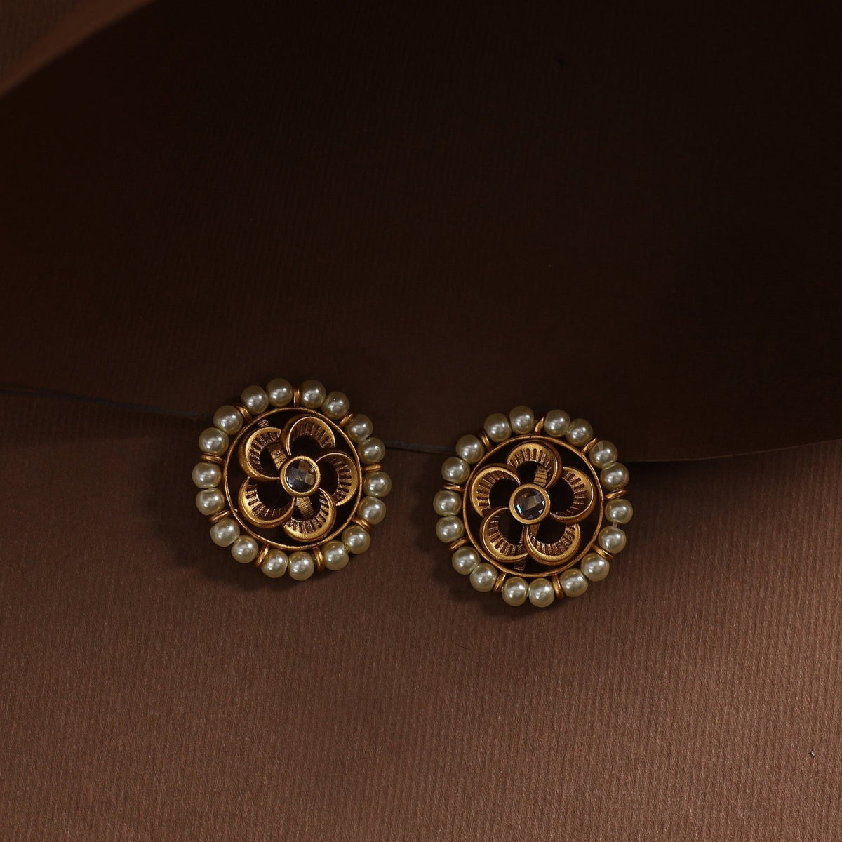 Pearl Floral Antique Earrings