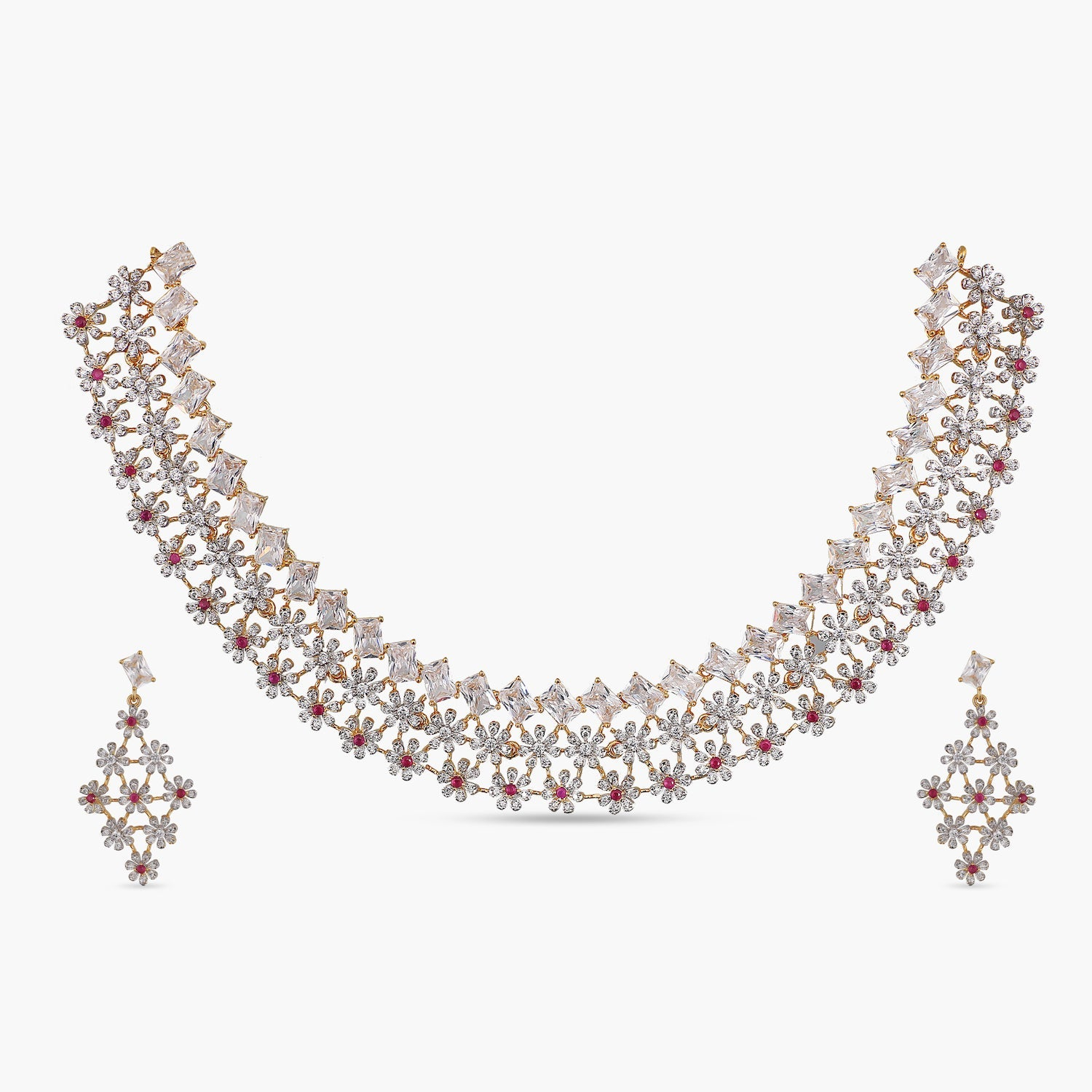 Everly Nakshatra CZ Necklace Set
