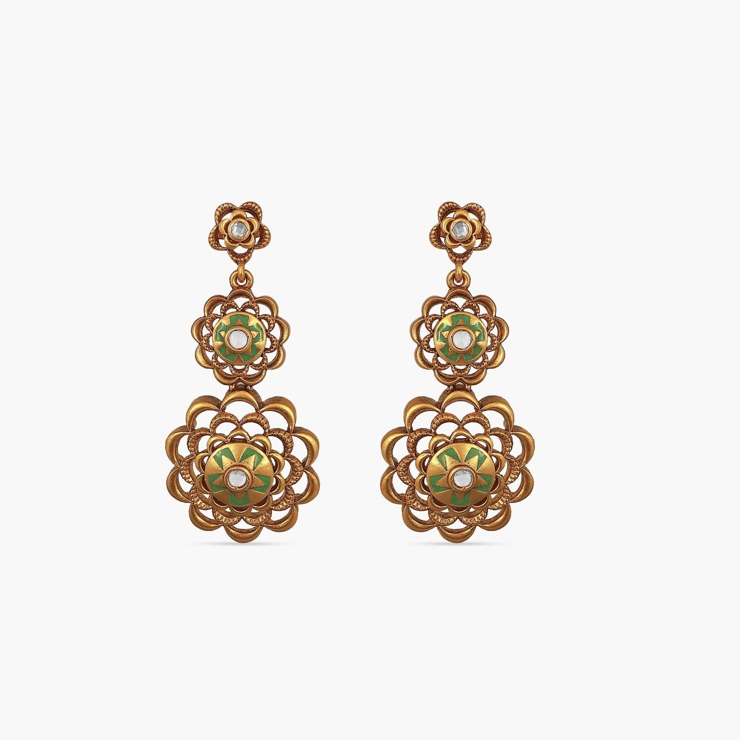 Forever Floral Statement Dangling Earrings