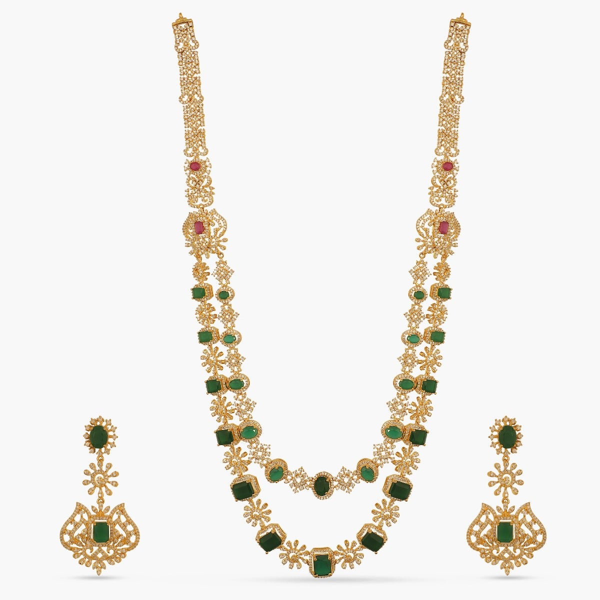Nabah Nakshatra CZ Long Necklace Set