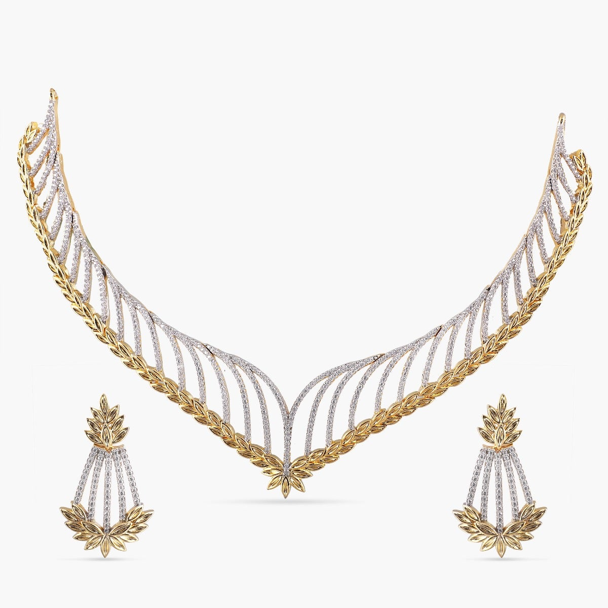 Parnal Nakshatra CZ Necklace Set