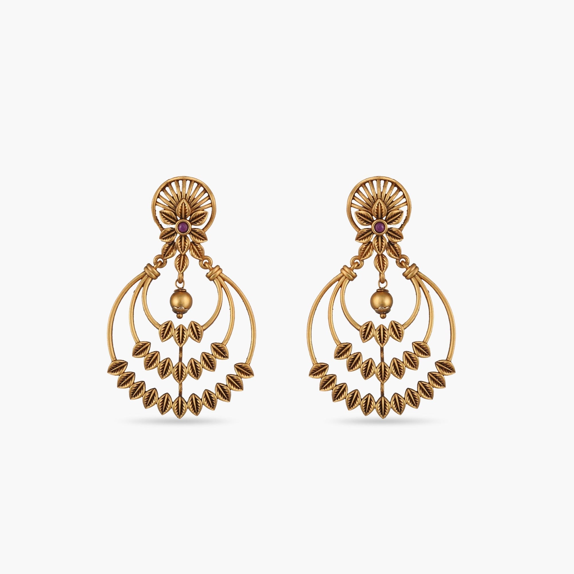 Dyuti Antique Chandbali Earrings