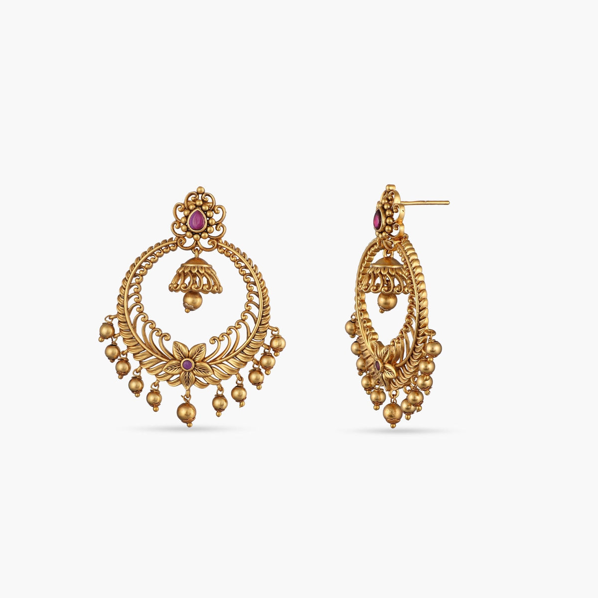 Kanan Antique Chandbali Earrings
