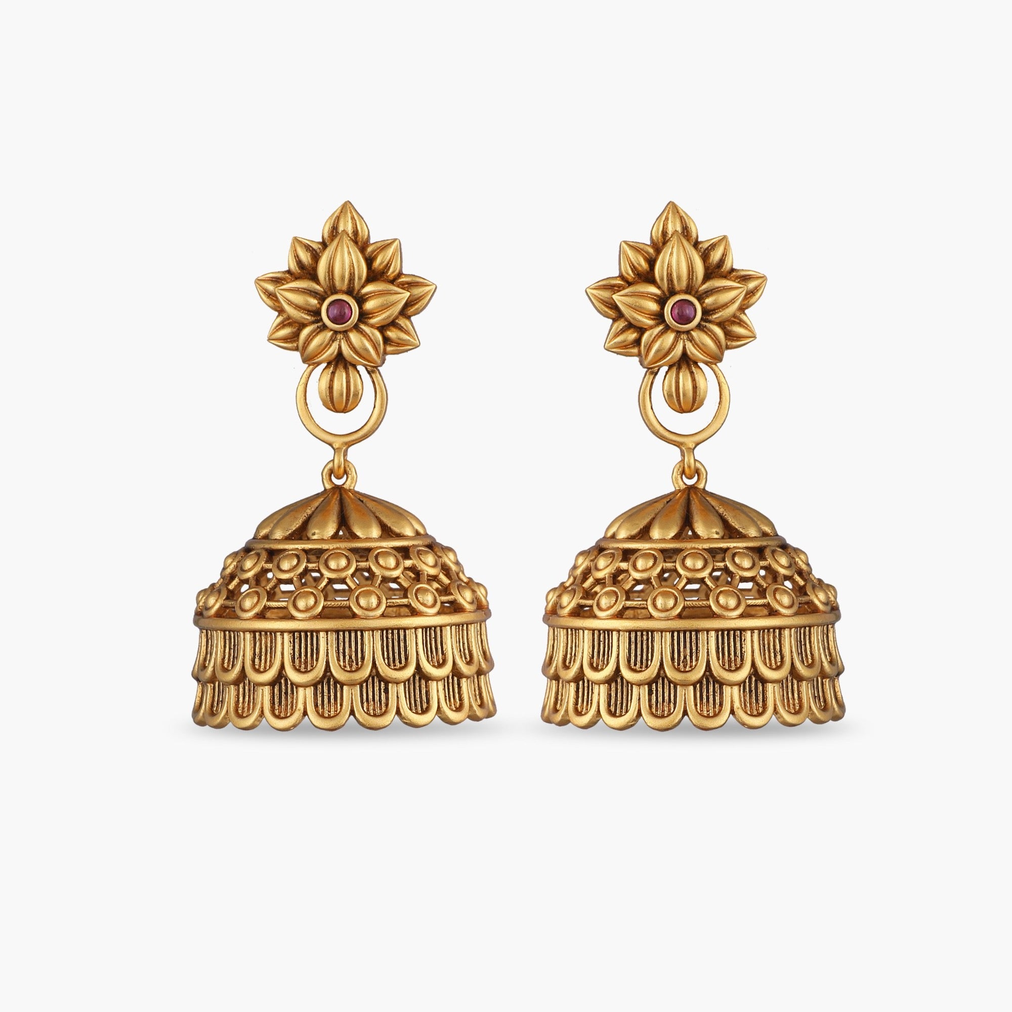Deava Antique Jhumka Earrings