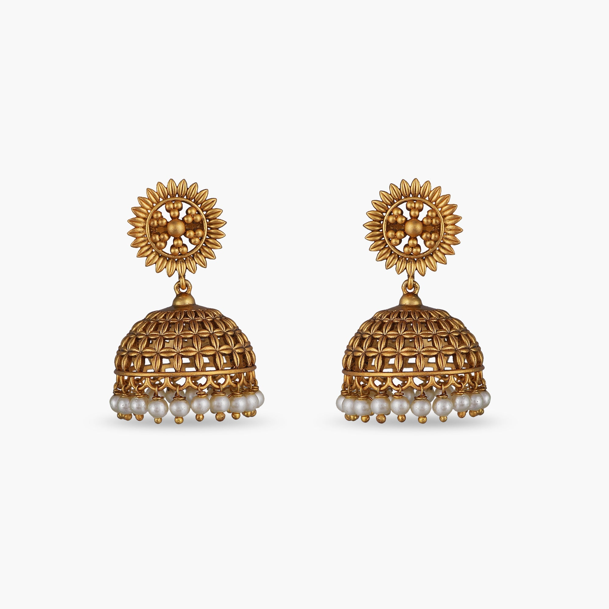 Girja Antique Jhumka Earrings