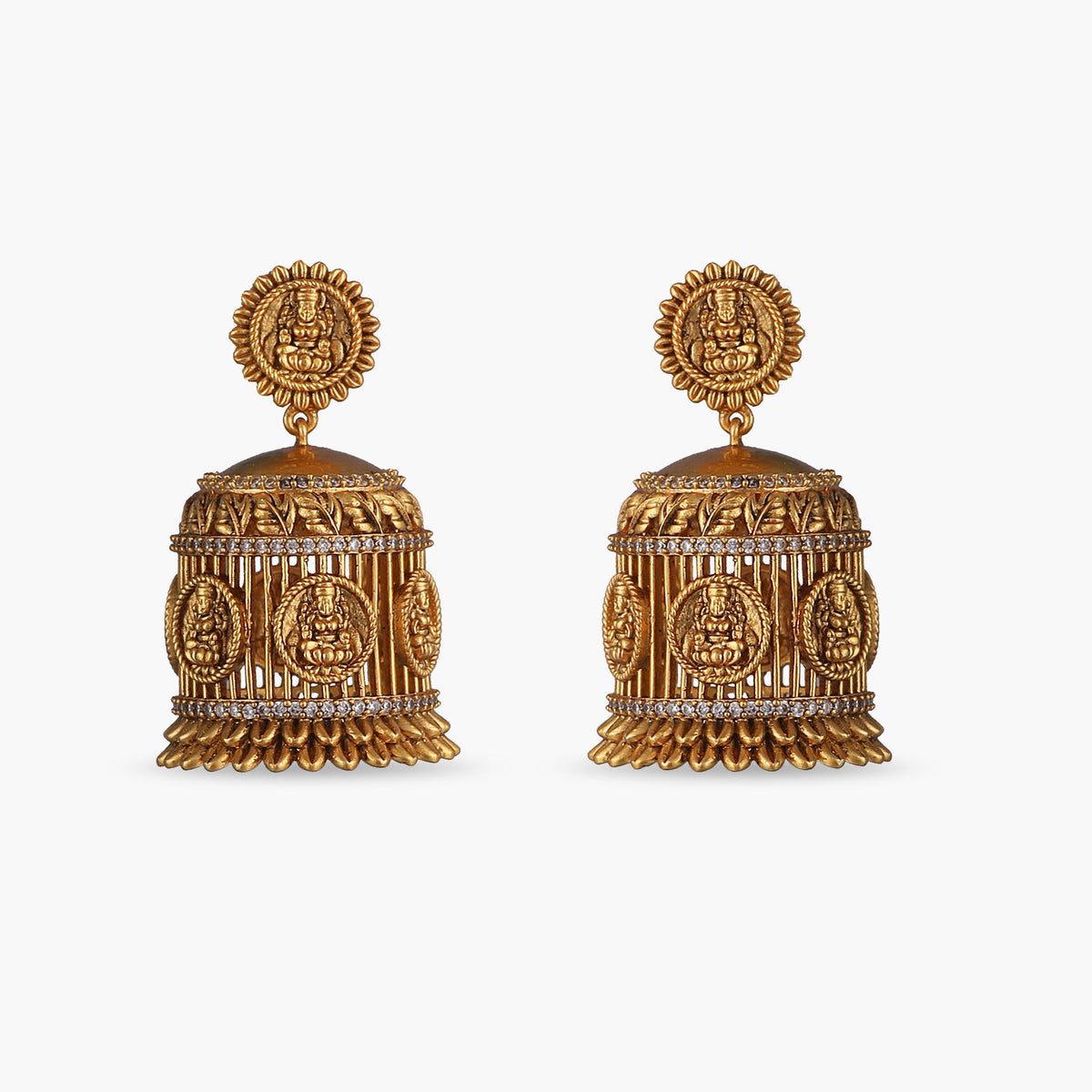 Kriti Antique Jhumka Earrings
