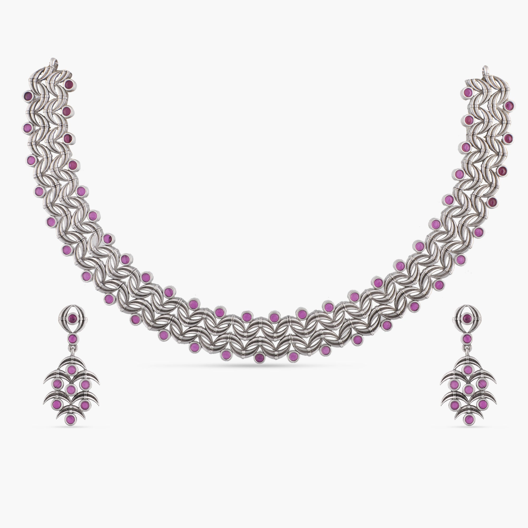 Chitra Antique Silver Necklace Set