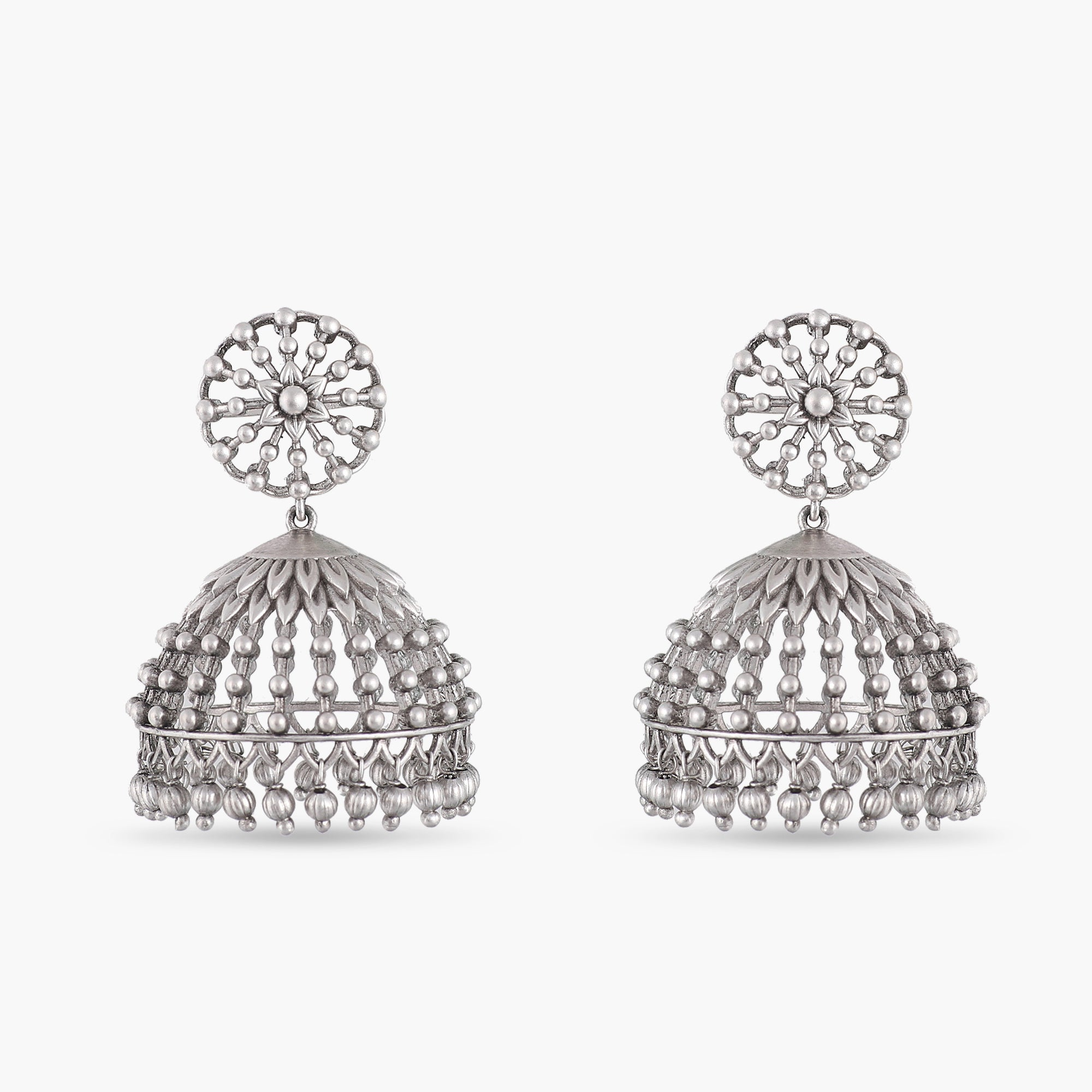 Gagini Antique Silver Jhumka Earrings