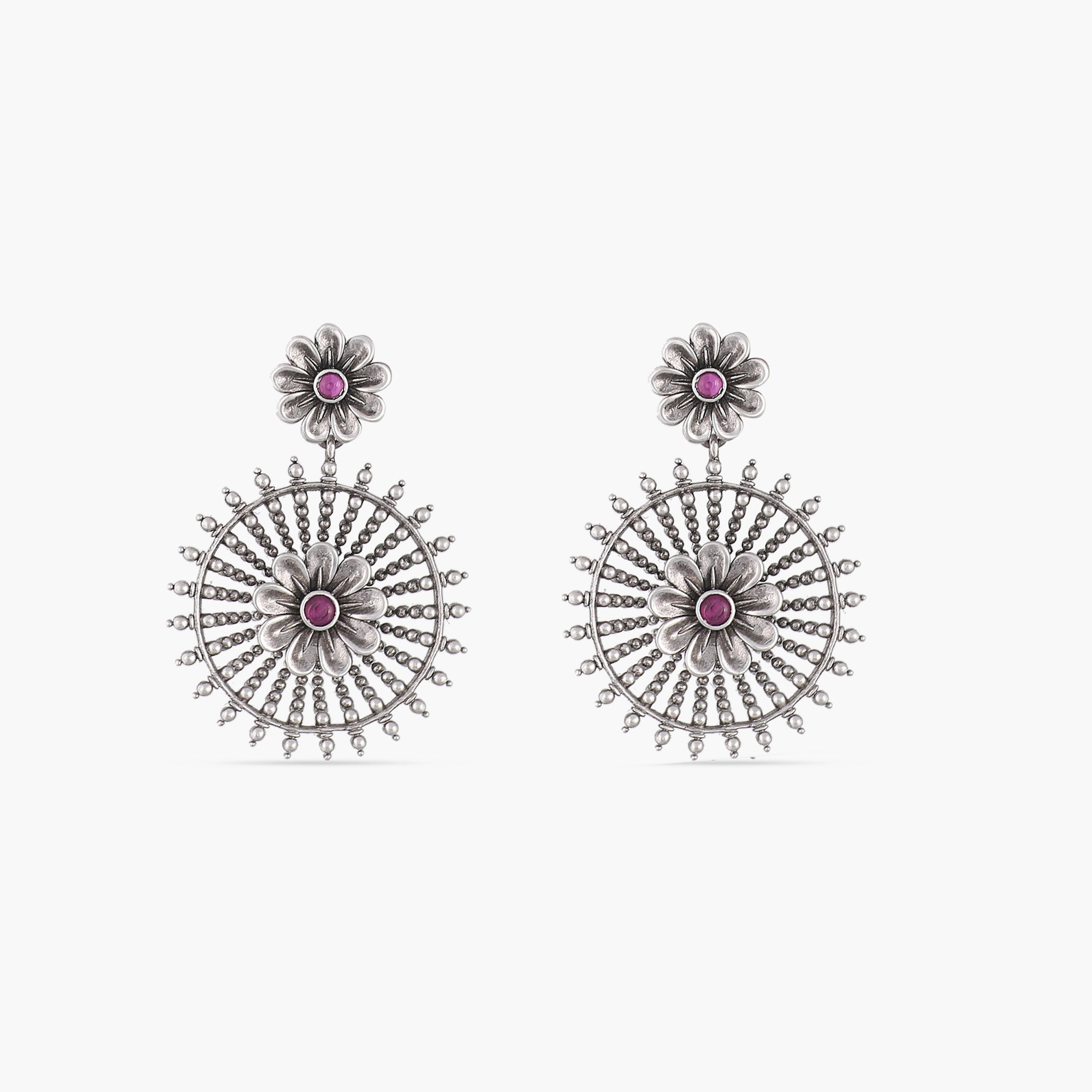 Eshana Antique Silver Earrings