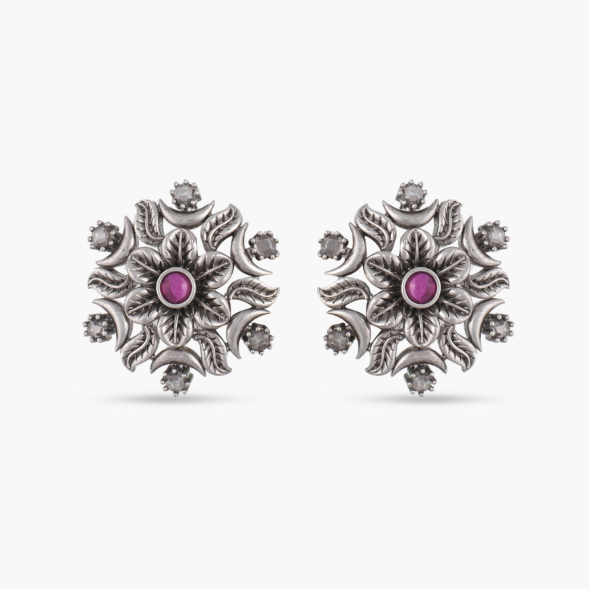 Sajal Antique Silver Earrings
