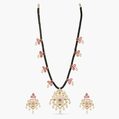 Mabel Nakshatra CZ Necklace Set by Tarinika