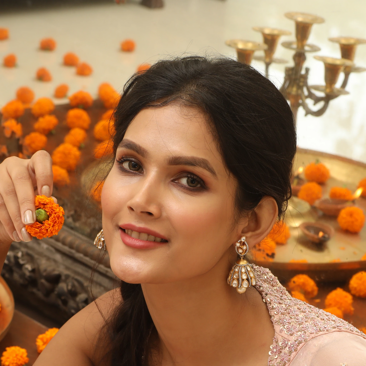 Visala Kundan Earrings