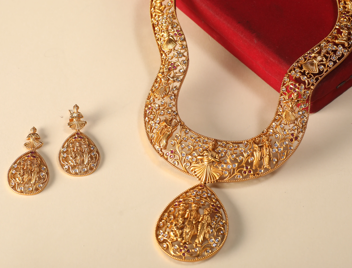 Mathura Antique Necklace Set