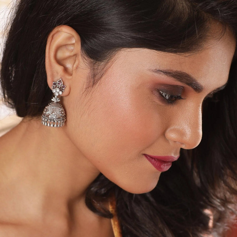 Gitali Kundan Jhumka Earrings