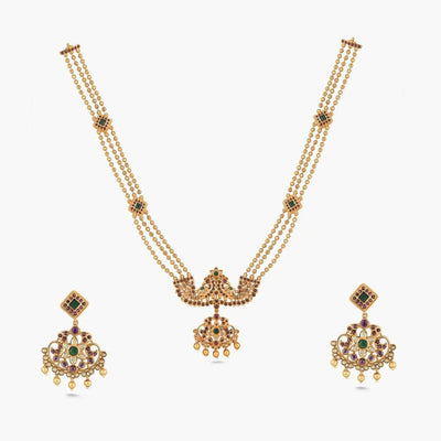 Jasmin Long Necklace Set