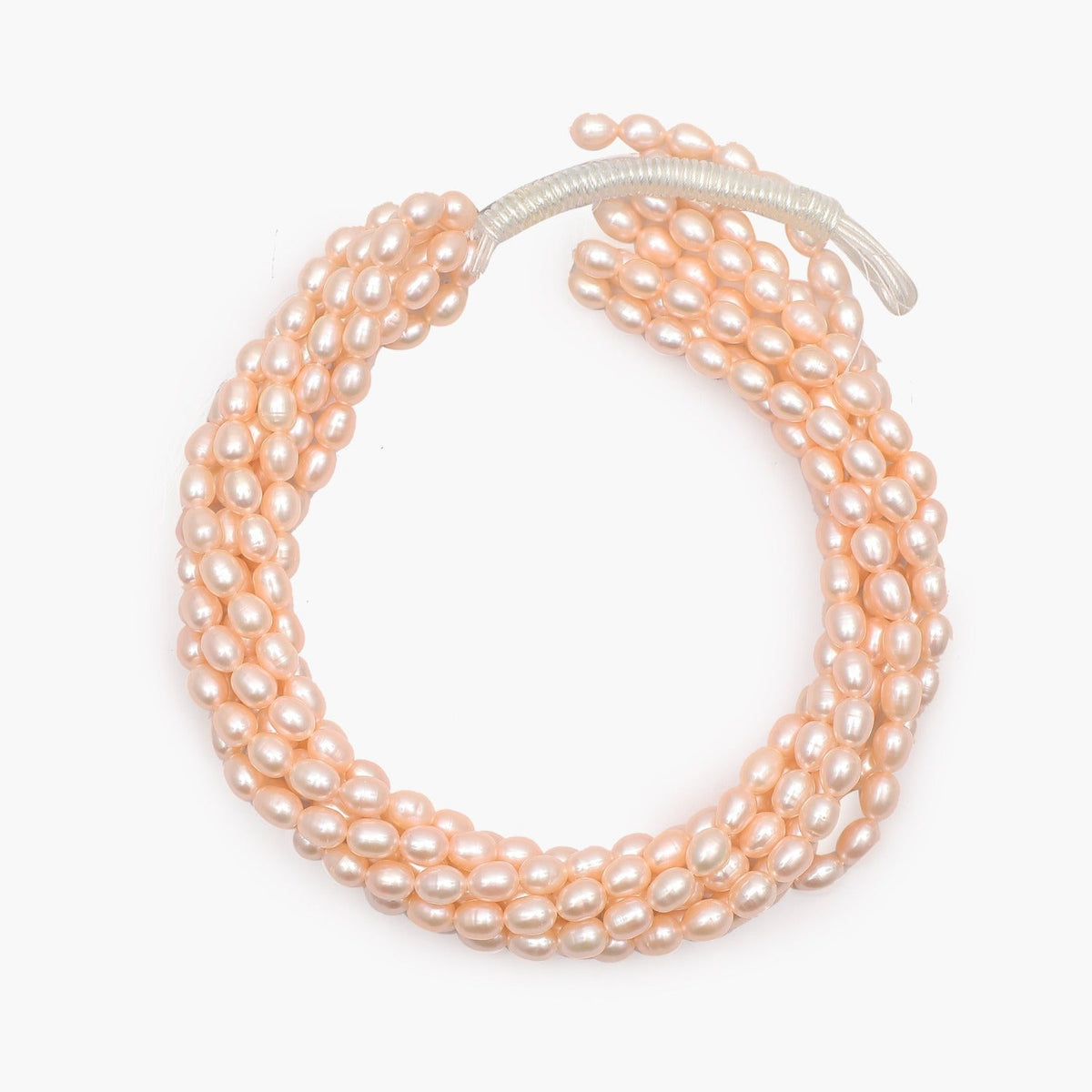 Freshwater Peach Round Pearls 8-10mm- Sold Per Strand