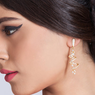 Vakr Nakshatra CZ Earrings