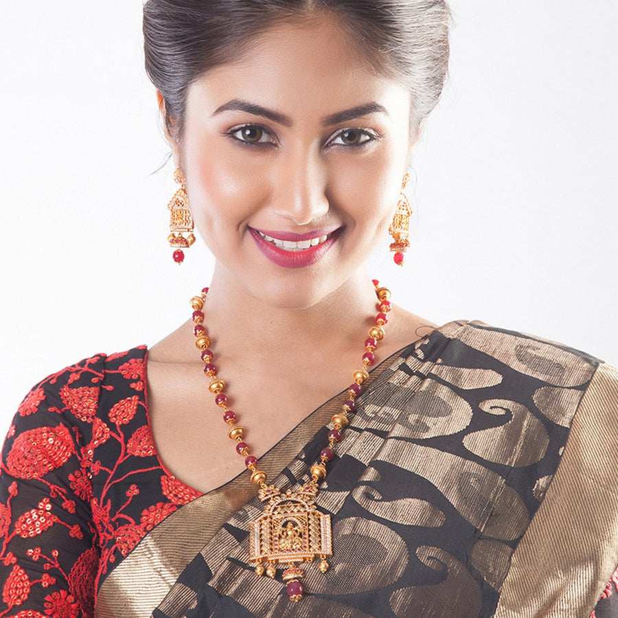 Padma Long Necklace Set