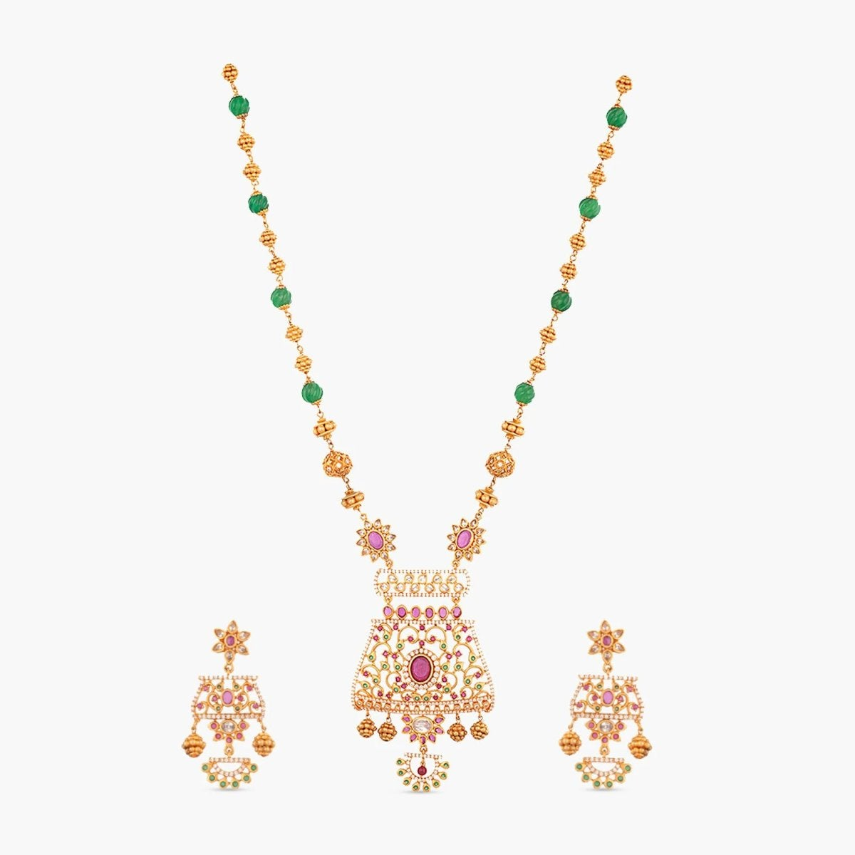 Hayat Antique Long Necklace Set