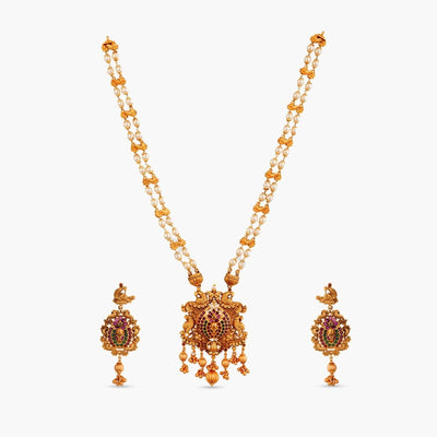 Baghban Antique Long Necklace Set