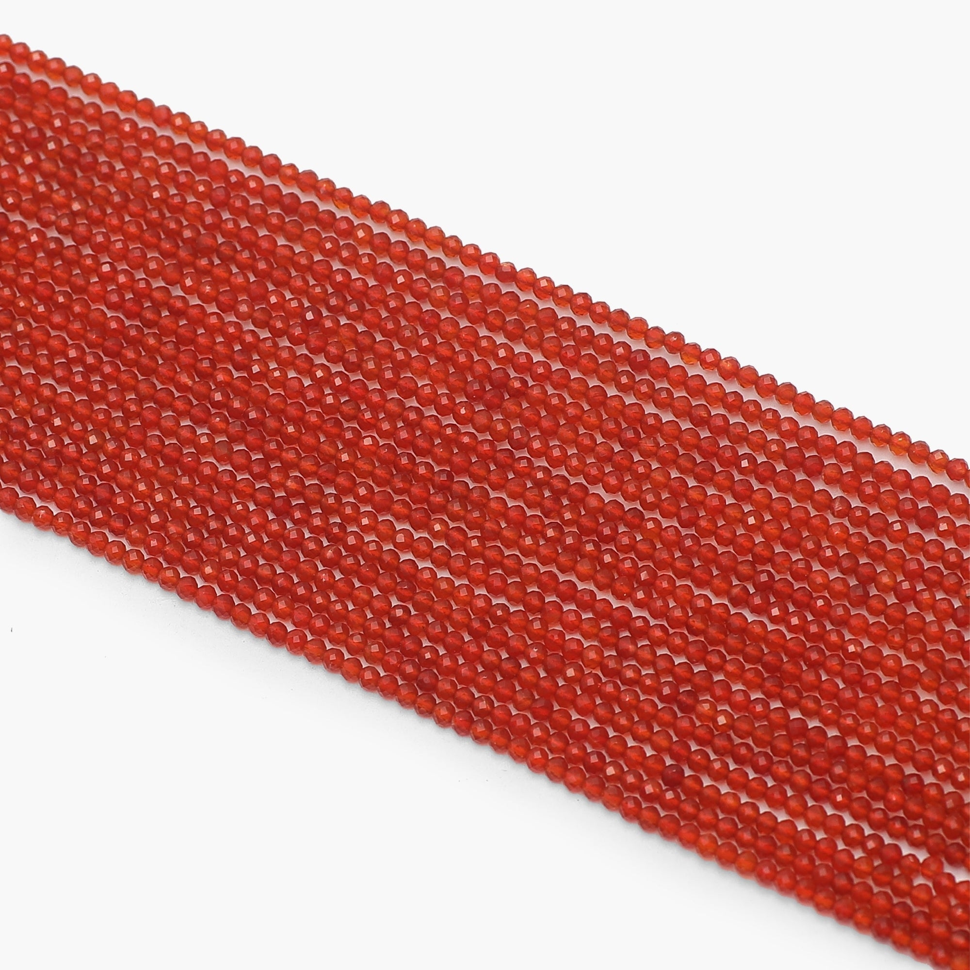 Red Onyx Diamond Cutting Beads-Sold Per Strand
